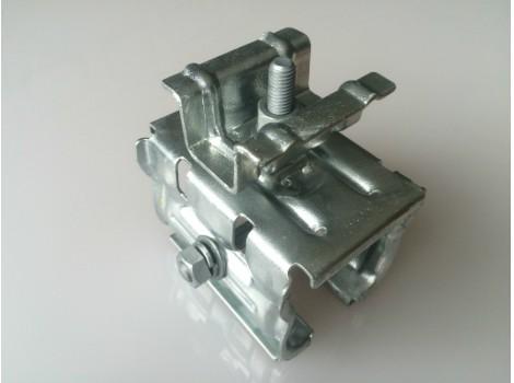 ハゼ折板用 太陽電池モジュール取付金具下曲げ MKLシリーズ中間部セット(モジュール厚み36・40・46㎜共通)