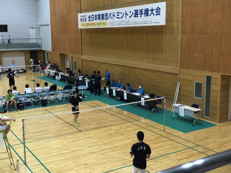 全日本実業団バドミントン選手権大会にチーム久野金属が出場!!