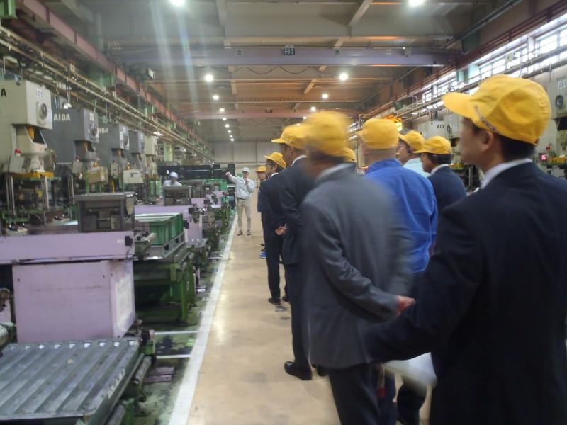11/19に安城商工会のお客様に、工場見学に来てきただきました