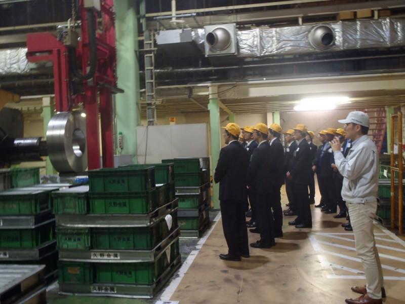 11/20に名古屋商工会議所のお客様に工場見学に来ていただきました