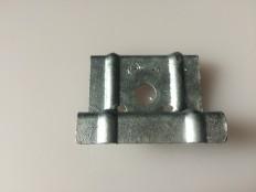 ハゼ折板用 ソーラーパネル取付金具用押え金具 端部用(モジュール厚み40㎜)