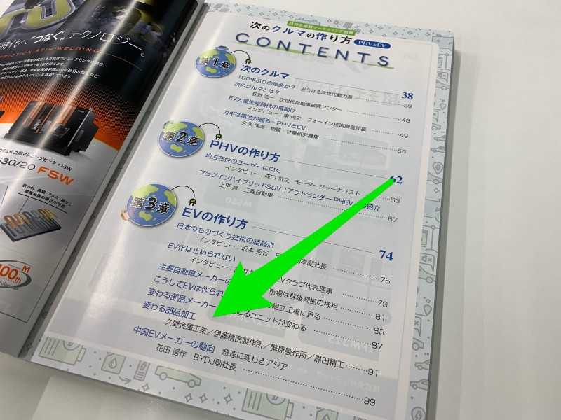 ニュースダイジェスト社冊子「次のクルマの作り方」に久野功雄副社長が掲載されました